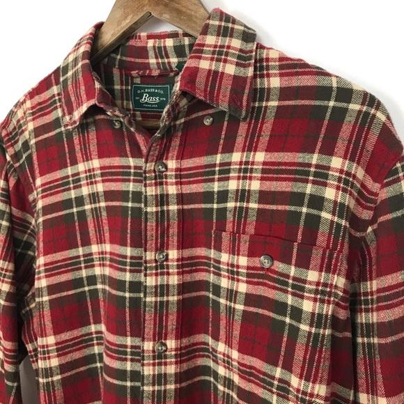 Gh Bass Co Mens Flannel Shirt Size